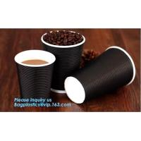 disposable cup/vending paper cup/custom coffee cups,ripple wall disposable paper cup custom logo printed hot coffee cups Manufactures