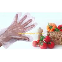 biodegradable compostable disposable plastic pe food handlng gloves, pac