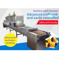 Food Raisins Stainless Steel Tunnel Belt Type Microwave Sterilization Machine Humidity Discharging System Manufactures