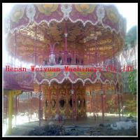 Nice Painting amusement park deluxe double decker carousel rides for sale Manufactures