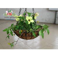 Wall Decor Indoor Hanging Flower Baskets , Round Hanging Plant Holders Manufactures