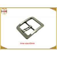 Silver Plated Zinc Alloy Pin Metal Belt Buckle For Men / coat Belt Buckle Replacement Manufactures