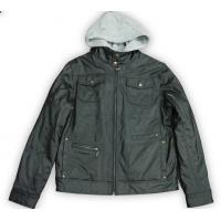 Quality Men's PU Hoody Jacket (83046-1) for sale