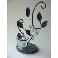 Handmade Iron Antique Tea Light Candle Holders With Slate Base Manufactures
