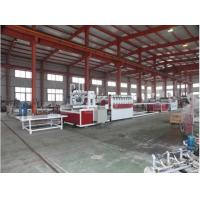 Conical Twin Screw Wood Plastic Composite Machine / PVC Foam Board Extrusion Line