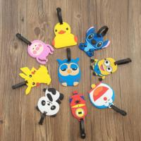 Cartoon Character 3D PVC Luggage Tag With Custom Company Or Team Logo Manufactures