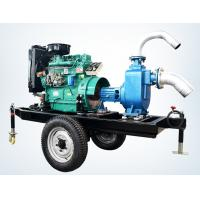 China trailer mounted 20hp diesel engine water pump set for agricultural irrigation 100m3 / h on sale