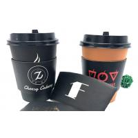 Black Coffee Cup Cardboard Sleeve , Custom Coffee Sleeves For Wedding Manufactures