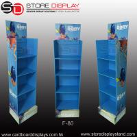 Promotional corrugated floor display stand with 4 shelves Manufactures