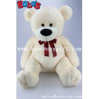 23.5Beige Giant Teddy Bear Toy With Printing Ribbon Manufactures