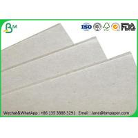 0.5mm - 4mm Grey Paper Board , Laminated Cardboard Sheets For Book Binding Manufactures