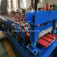 Trapezoidal Metal Sheet Roof Roll Forming Machine PPGI/GI Material With PLC Control Manufactures