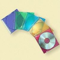Quality 5.2mm Colored CD Jewel Boxes with Transparent Front Cover for sale