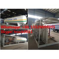 China 15tons skid lpg gas station with double weighting scales for sale, factory sale best price 15tons mobile skid lpg plant on sale