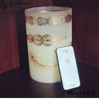China Personalized Party / Event Paraffin Wax Candles In Prinnted Glass Jar on sale