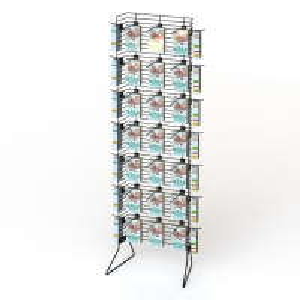 Single Powder Wing Metal Display Racks Knockdown Structure Manufactures