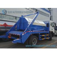 Dongfeng 6 Ton - 8 Ton Garbage Collection Truck Swing Arm With Left Hand Drive Manufactures