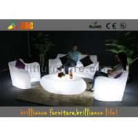 Modern LED Sofas sets Recharge battery , Glowing sofa chair Manufactures