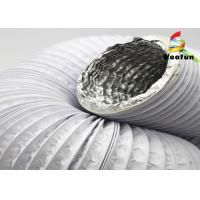 Quality Aluminum Laminated PVC Ventilation Ducting Compressible Expandable White for sale