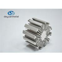 Heat Sink Silver Anodizing Extruded Aluminium Profiles / Extruded Aluminum Shapes Manufactures