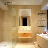 Glass mirror illuminated mirror LED mirror for bathroom Manufactures