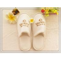 China Disposable Wholesale New Design Popular Terry Cloth Hotel Slippers on sale