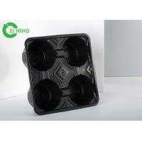 Hot Drink Plastic Cup Holder Tray , Hard Strong Coffee Tray Holder Eco Friendly Manufactures