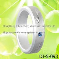 Platinum Plated Tungsten Band wedding ring Manufactures
