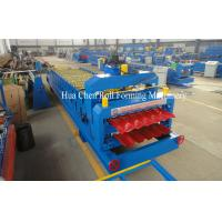 7.5Kw Hydraulic Power Tile and Roof Double Layer Cold Roll Forming Machine with CE Manufactures