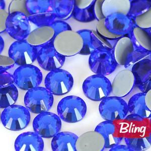 Capri Blue Sparkly Glass Hot Fix Rhinestones SS20 Manufactures