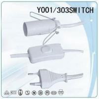 China VDE 2 straight pin power plug copper wire Power cable with stopper on sale