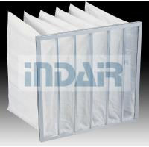 Lightweight High Flow Air Filter 595x595x600mm With Aluminium Zinc Plate Frame Manufactures