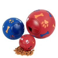 China Blue / Red Color Dog Fetch Ball , Dog Snack Ball Chewable For Training Pets on sale