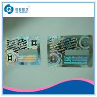 3D Holographic Anti-counterfeit abel With Coating / Custom Hologram Stickers With Coating Manufactures