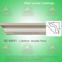 China Gypsum Crown Moulding Plain Cornice Moulding For Villa/Hotel/Bungalow Ceiling Decoration on sale
