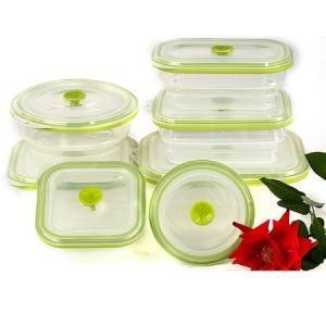 China Silicone folding lunch box of large capacity, food storage box on sale