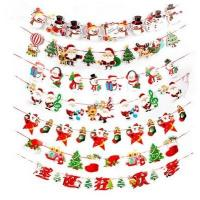 Pull the rope of flag  colorful flag,Christmas decorations,The festive scene layout paper hanging flags Manufactures