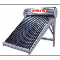 CE Sunrise Non-Pressurized Stainless Steel Solar Hot Water for Family Use