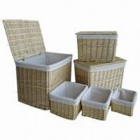 Storage Baskets, Willow Trunks Parent, Set of 6 Manufactures