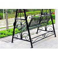 China Metal Garden Other Furniture Two Seater Wrought Iron Hanging Swing Chair on sale