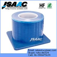 Non-adhesive edges blue barrier film with dispenser Manufactures
