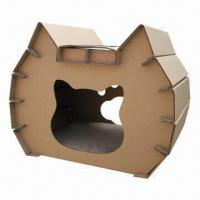 Cardboard cat house, OEM orders are welcome Manufactures