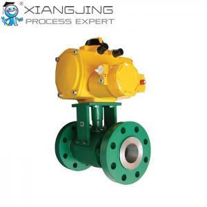 China Medium Pressure Severe Service Ball Valves Regulating Structure Fisher Z500 Model on sale