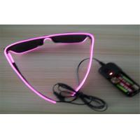 Pink Frame EL Wire Glow  Sunglasses Manufactures