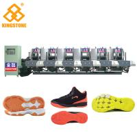 China Semi Automatic One Color Rubber Sole Making Machine For High Grade Leather Shoes on sale