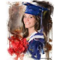 100% Hand-painted High Quality Portrait - Graduation Oil Painting on Canvas Manufactures