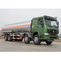 25 CBM Lpg Tanker Truck , HOWO Four Axles 371HP Fuel Oil Delivery Truck Manufactures