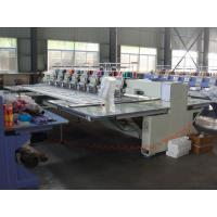 8 Head 12 Needle Industrial Computerized Embroidery Machine With Sequin Device Manufactures