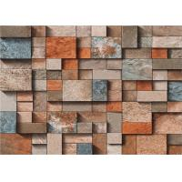 3 Dimensional Removable Brick Wallpaper Washable For Lounge Room , Anti - Static Manufactures