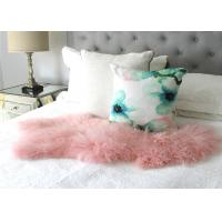 Natural Pink Real Mongolian Lamb Rug Bed Fur Blanket Decorative Blankets Floor Rugs and Carpets For Living Room Manufactures